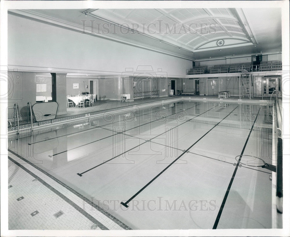 1961 Chicago, Illinois Union League Club Pool Press Photo - Historic Images