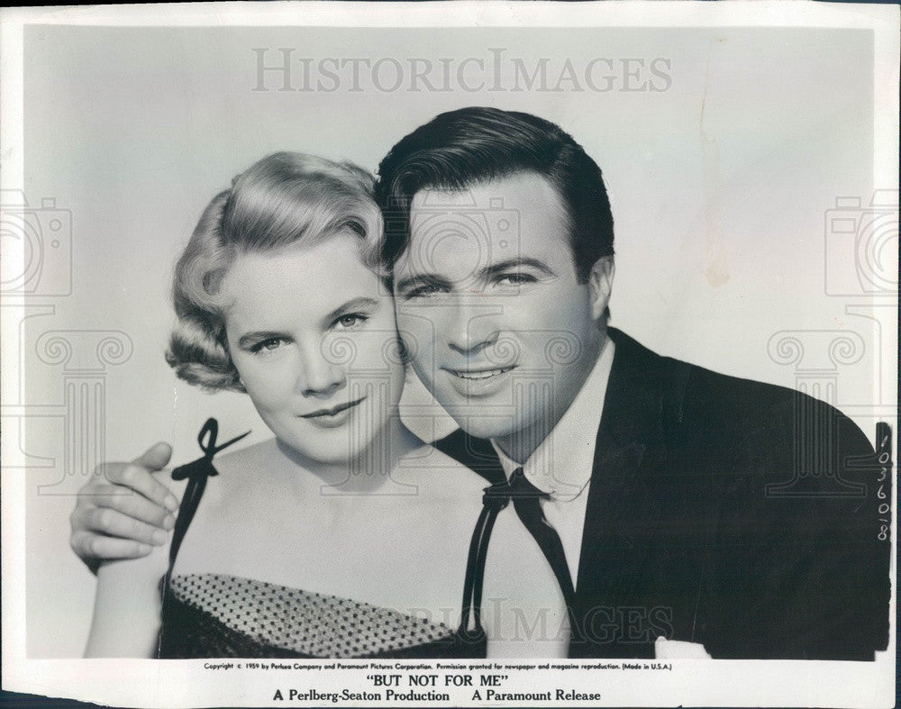 1959 American Hollywood Actors Carroll Baker & Barry Coe Press Photo - Historic Images