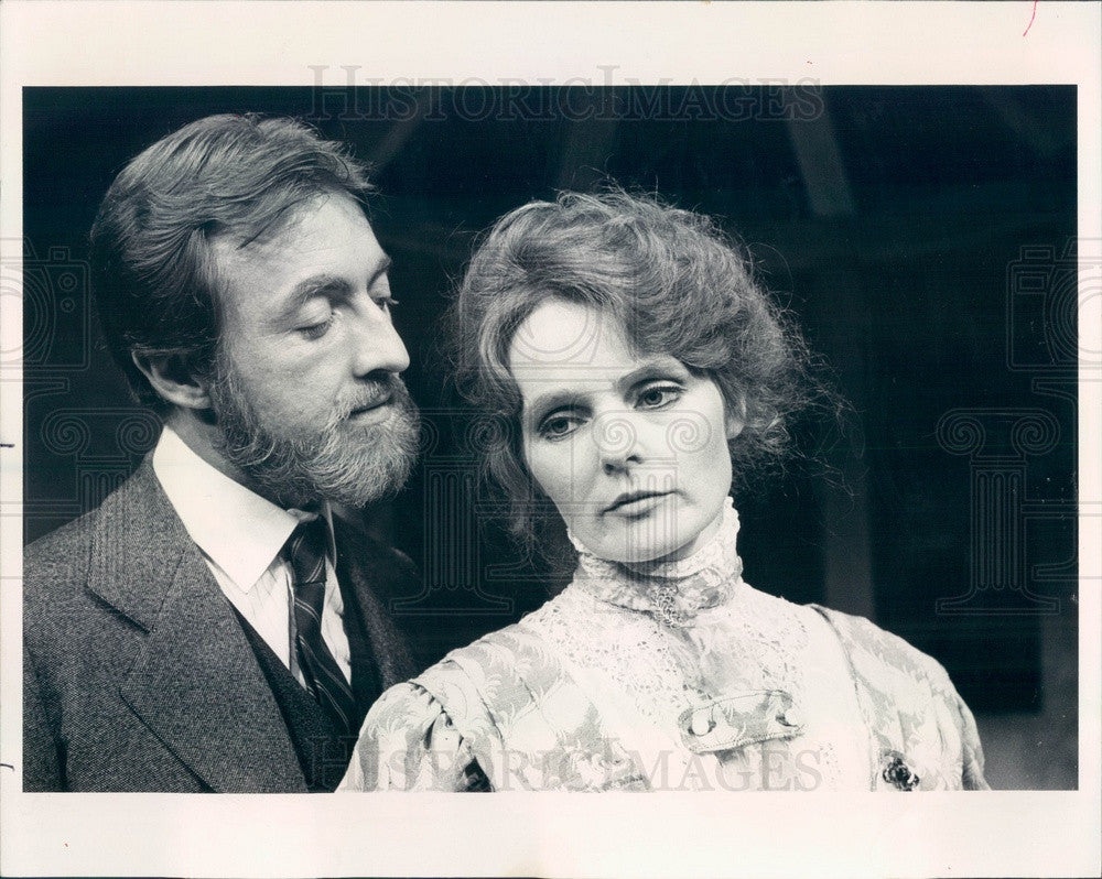 1979 Hollywood Actors Ken Jenkins & Katharine Houghton Press Photo - Historic Images