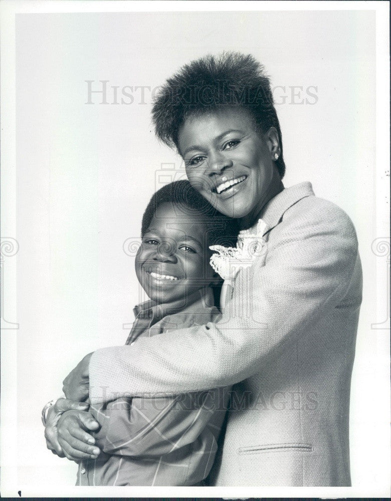 1985 American Hollywood Actors Cicely Tyson/Gary Coleman Press Photo - Historic Images