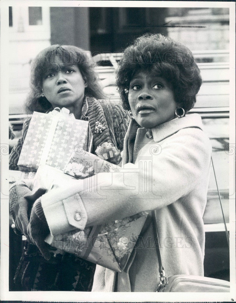 1981 American Hollywood Actors Cicely Tyson & Diane Kirksey Press Photo - Historic Images