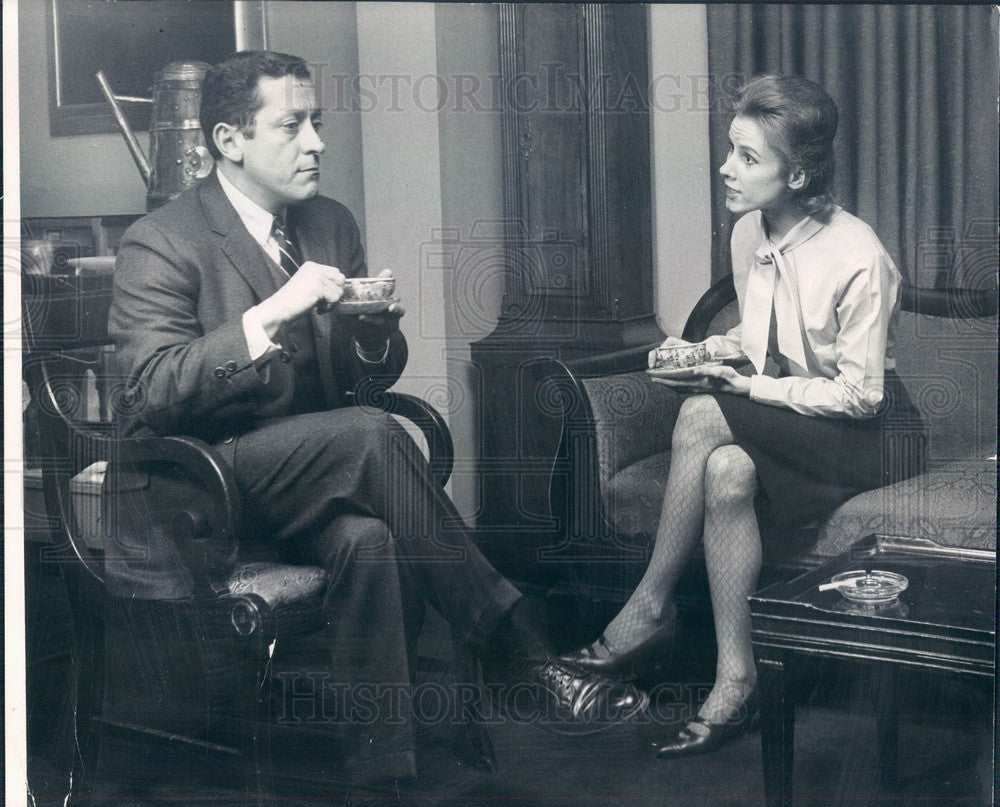 1965 Actors Mike Nussbaum & Jennifer Haefele in The Collection Press Photo - Historic Images