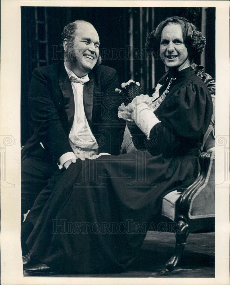Undated Actors Rene Auberjonois & Harry Frazier in Charley's Aunt Press Photo - Historic Images
