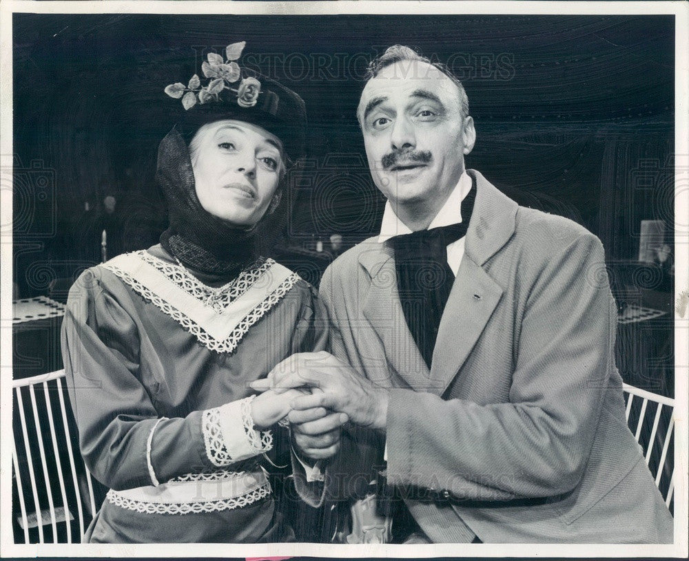 1962 Summit, IL Actors Jane Sindt & Paul Bowers in Charley's Aunt Press Photo - Historic Images