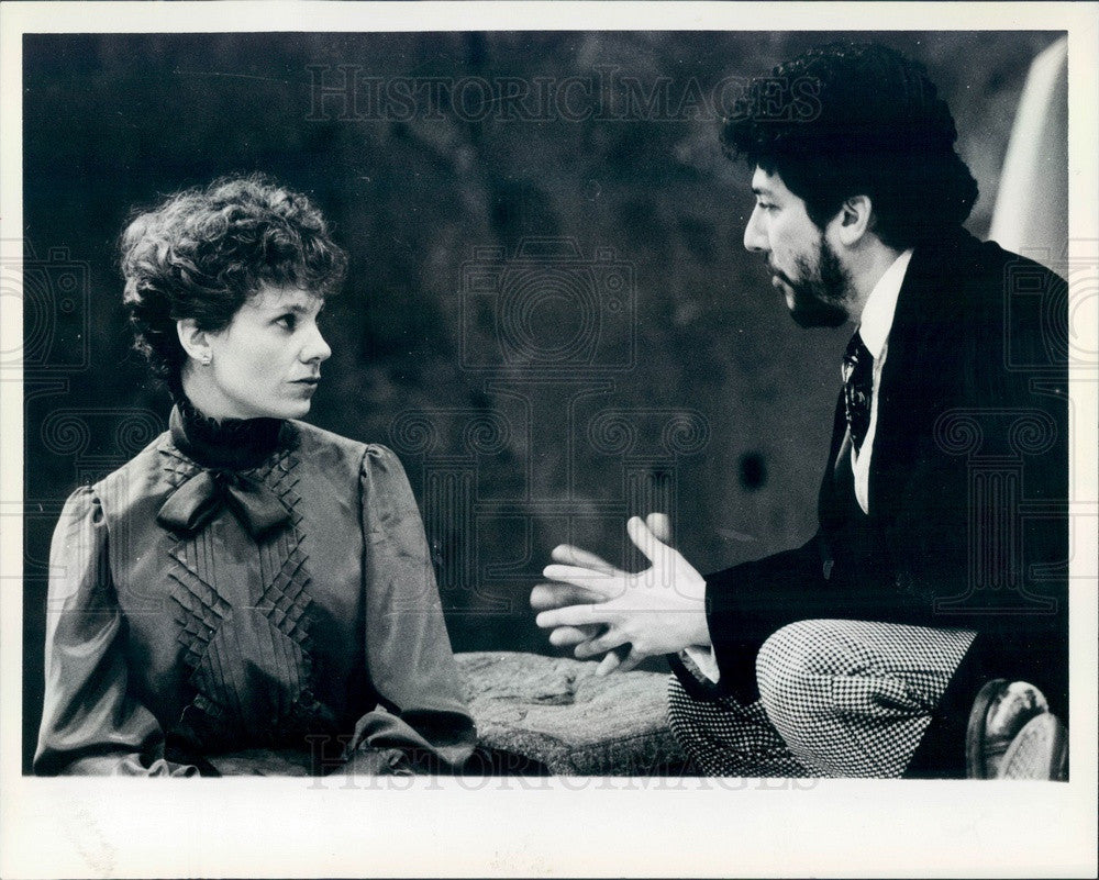 1985 Hollywood Actors Lindsay Crouse & Peter Reigert Press Photo - Historic Images