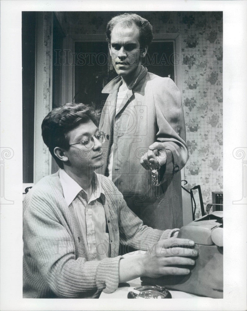 1982 Hollywood Actors John Malkovich & Jeff Perry in True West Press Photo - Historic Images