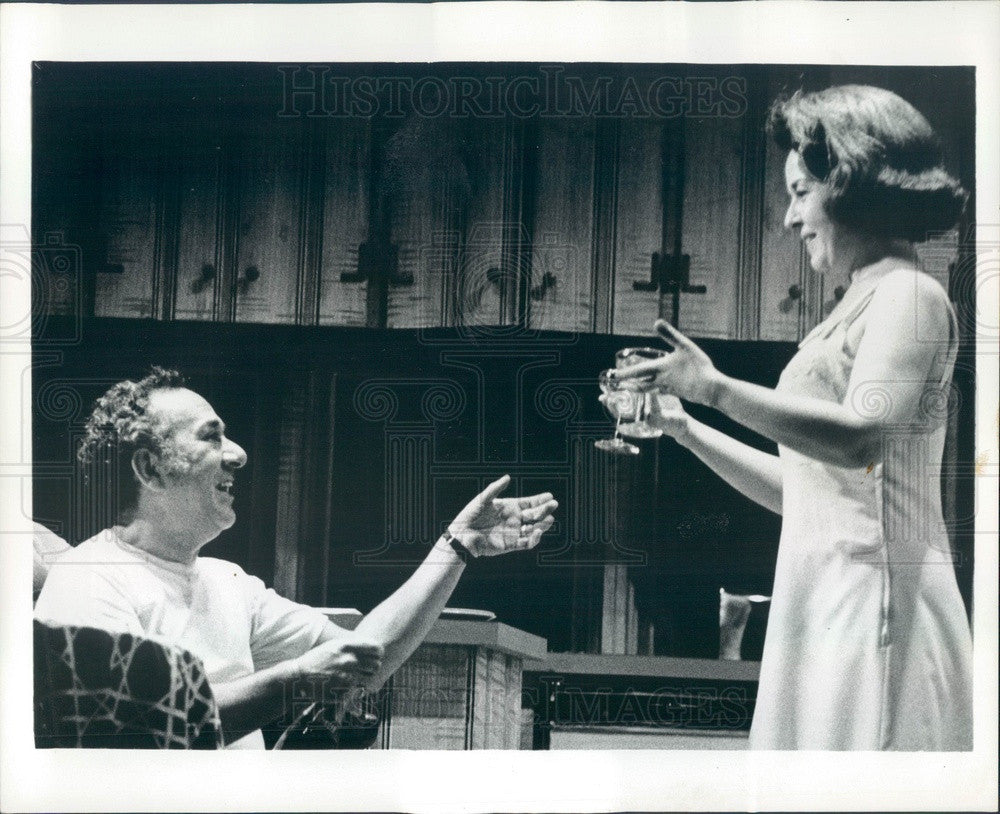 1972 Hollywood Actors Sada Thompson & Larry Haines in Twigs Press Photo - Historic Images