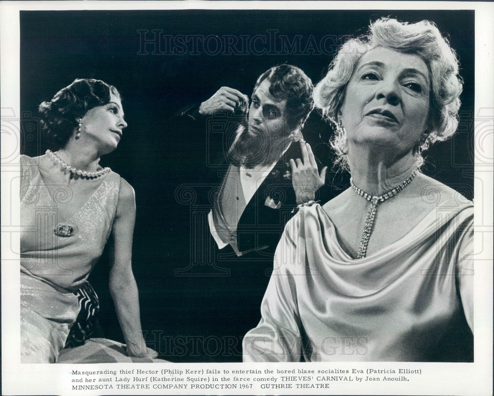 1967 Actors Philip Kerr, Patricia Elliott, Katherine Squire Press Photo - Historic Images