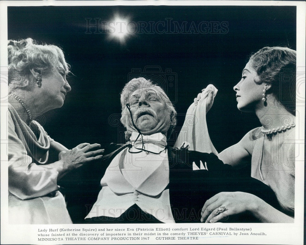1967 Actors Paul Ballantyne, Patricia Elliott, Katherine Squire Press Photo - Historic Images