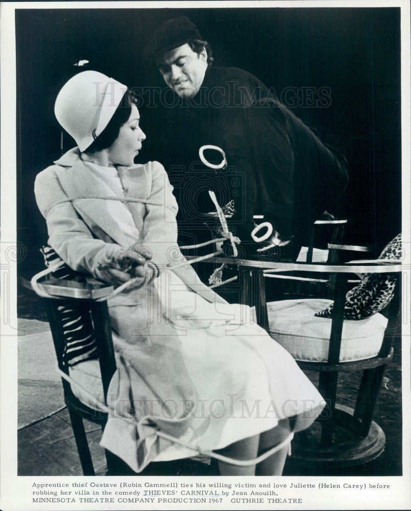 1967 Actors Helen Carey & Robin Gammell, Minnesota Theater Co Press Photo - Historic Images