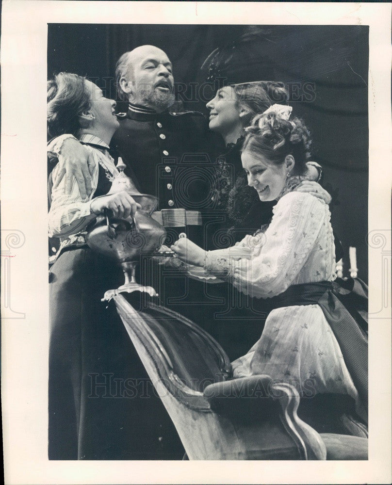 1969 Actors Michael Learned, Angela Paton, William Paterson Press Photo - Historic Images