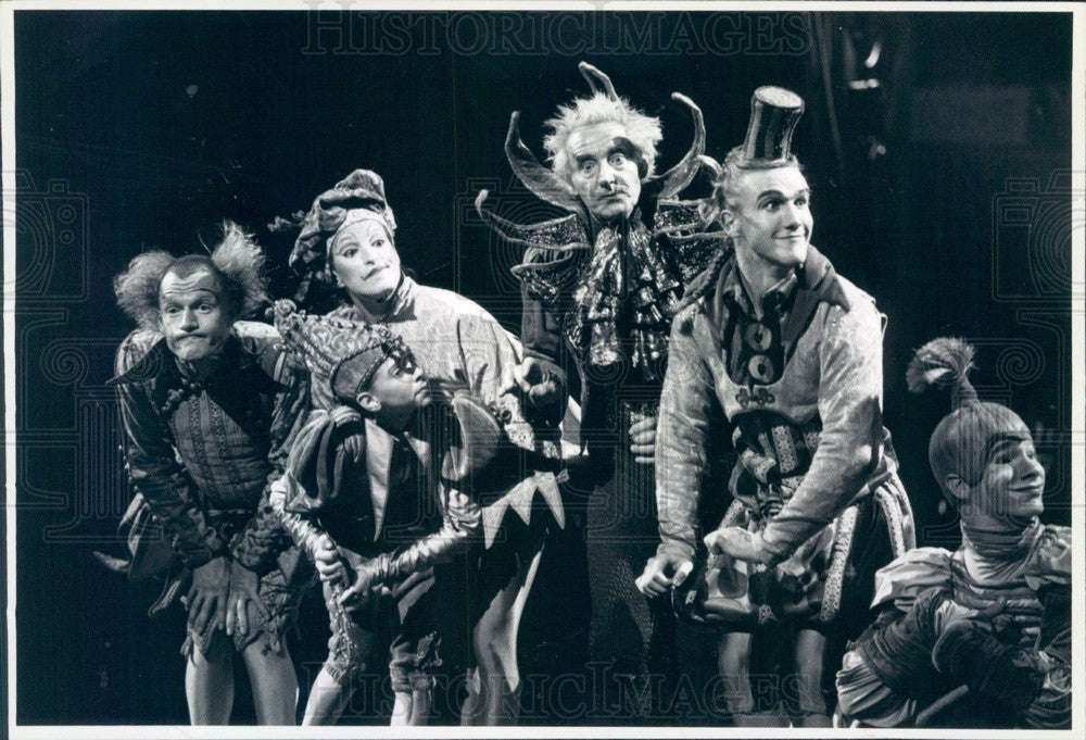 1991 Cirque du Soleil Les Flounes Press Photo - Historic Images