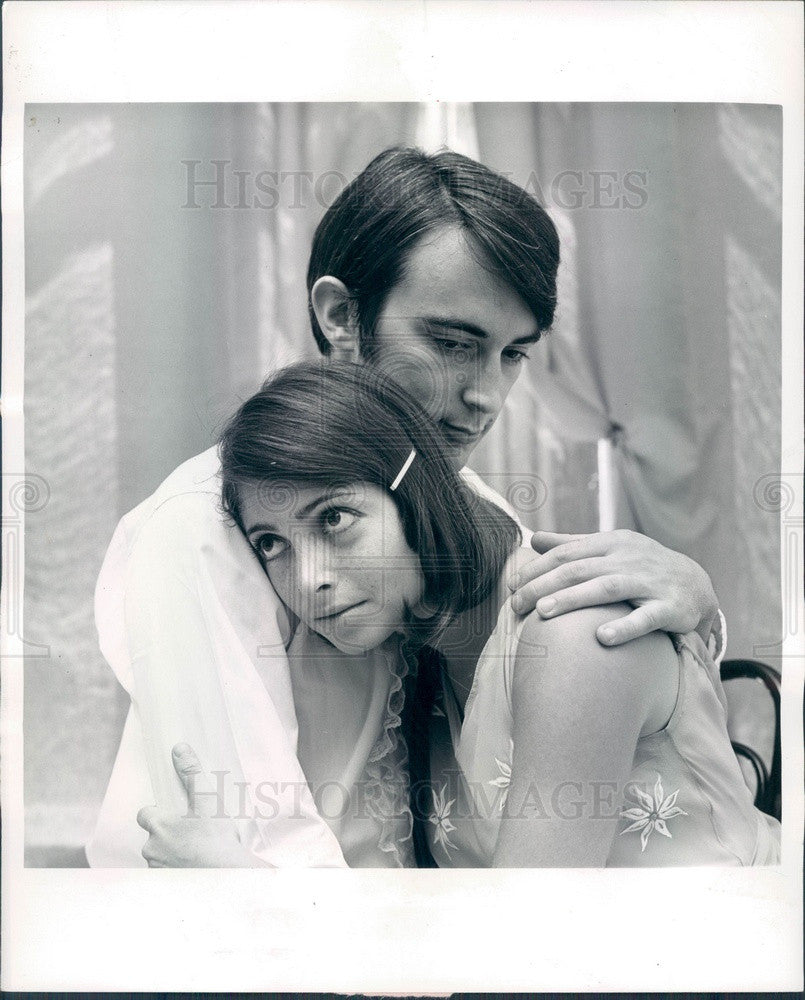 1967 Actors David Grimm & Judith Mihalyi in Thieves' Carnival Press Photo - Historic Images