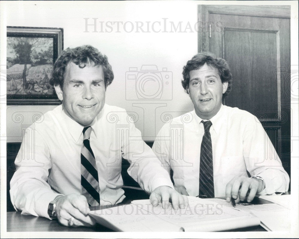1985 Texas Lawyers Peter Waldmeir & Thomas Heiden Press Photo - Historic Images
