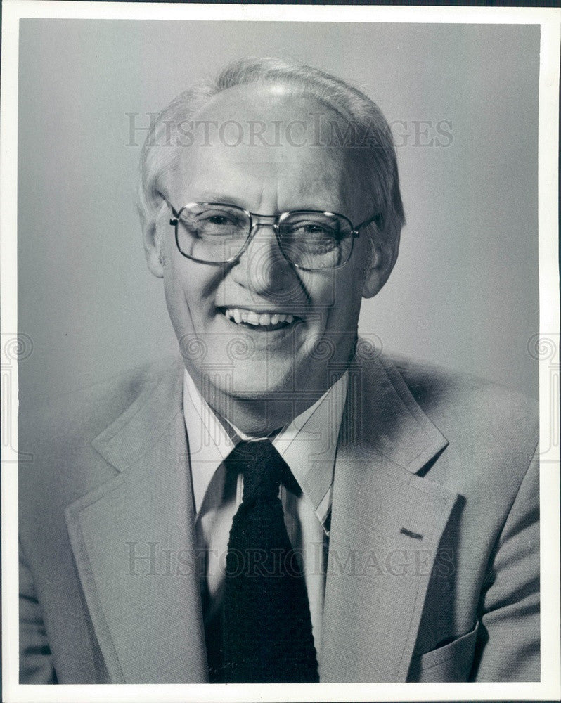 1984 Detroit News Sports Writer Pete Waldmeir Press Photo - Historic Images