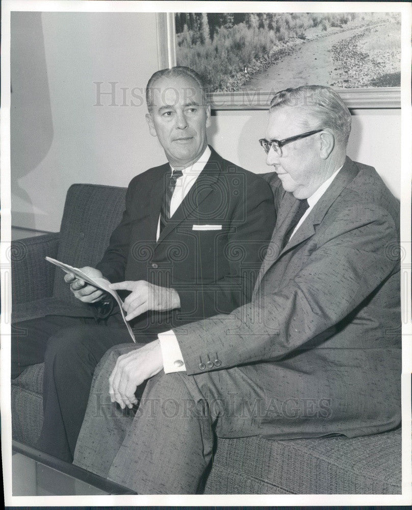 1961 Central Colorado Power Co Pres James Cryder & Public Service Press Photo - Historic Images