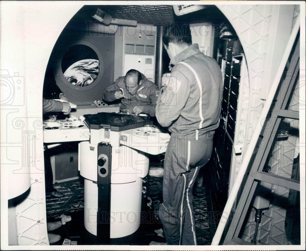 1973 Skylab Astronauts Pete Conrad & Dr. Joseph Kerwin in Training Press Photo - Historic Images