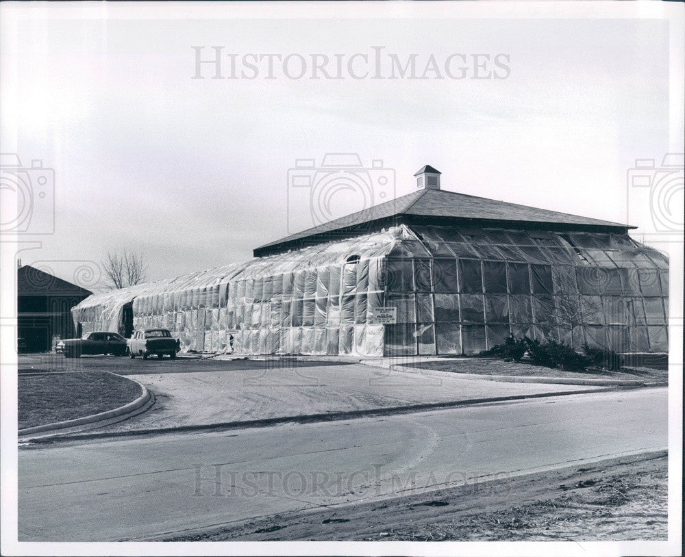 1961 Taylor Township, Michigan Fairline Shopping Center Construction Press Photo - Historic Images