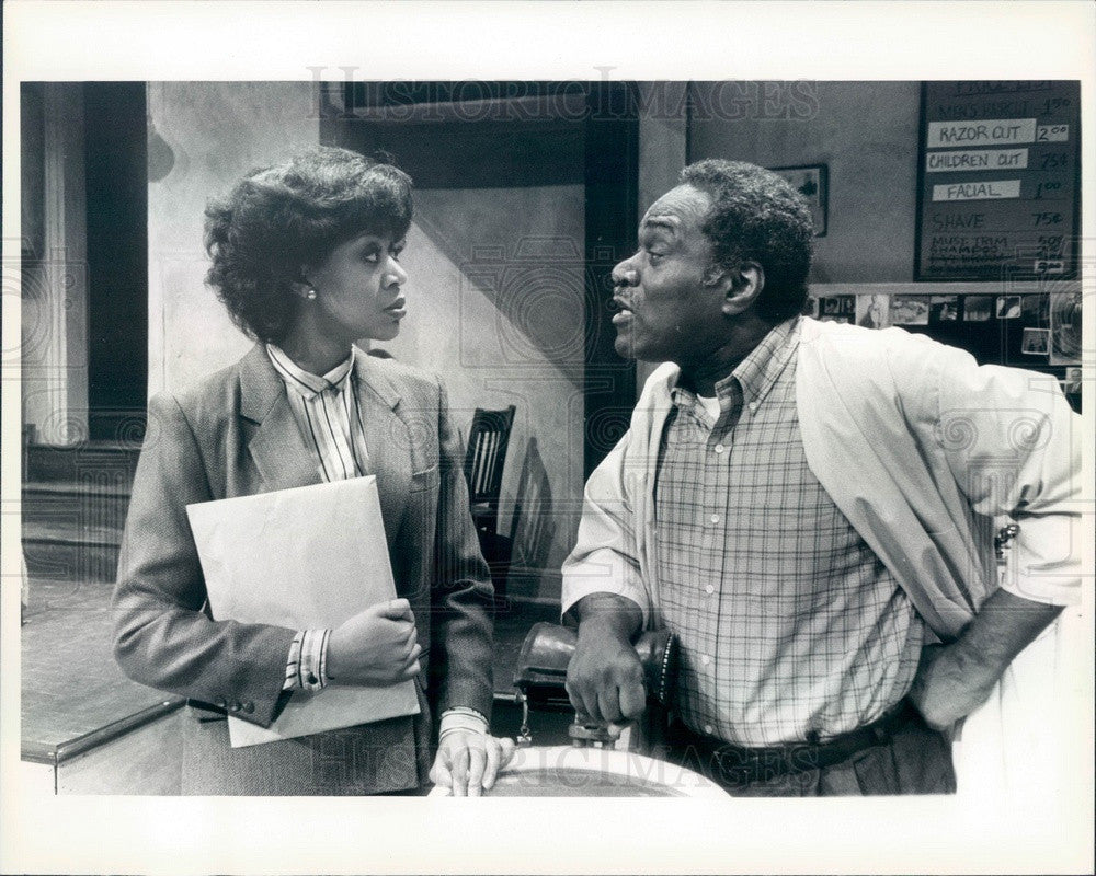 1985 Broadway Actors Douglas Turner Ward & Patty Holley Press Photo - Historic Images