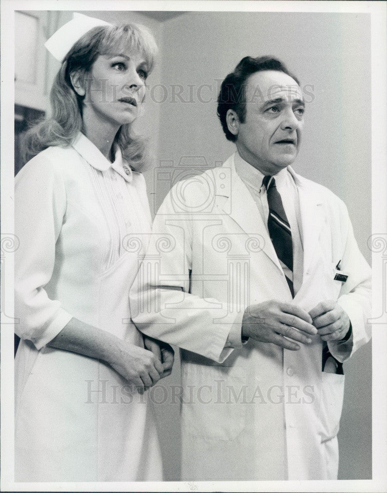 1986 Hollywood Actors Ed Flanders/Christina Pickles St Elsewhere Press Photo - Historic Images