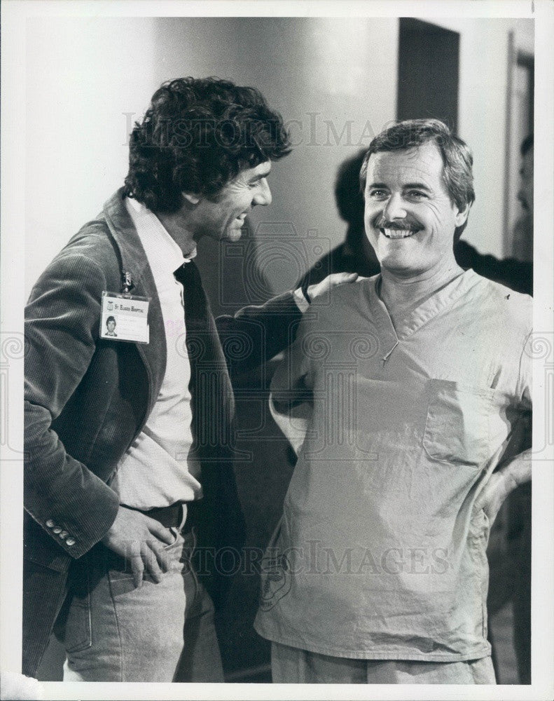 1983 Hollywood Actors David Birney/William Daniels TV St Elsewhere Press Photo - Historic Images