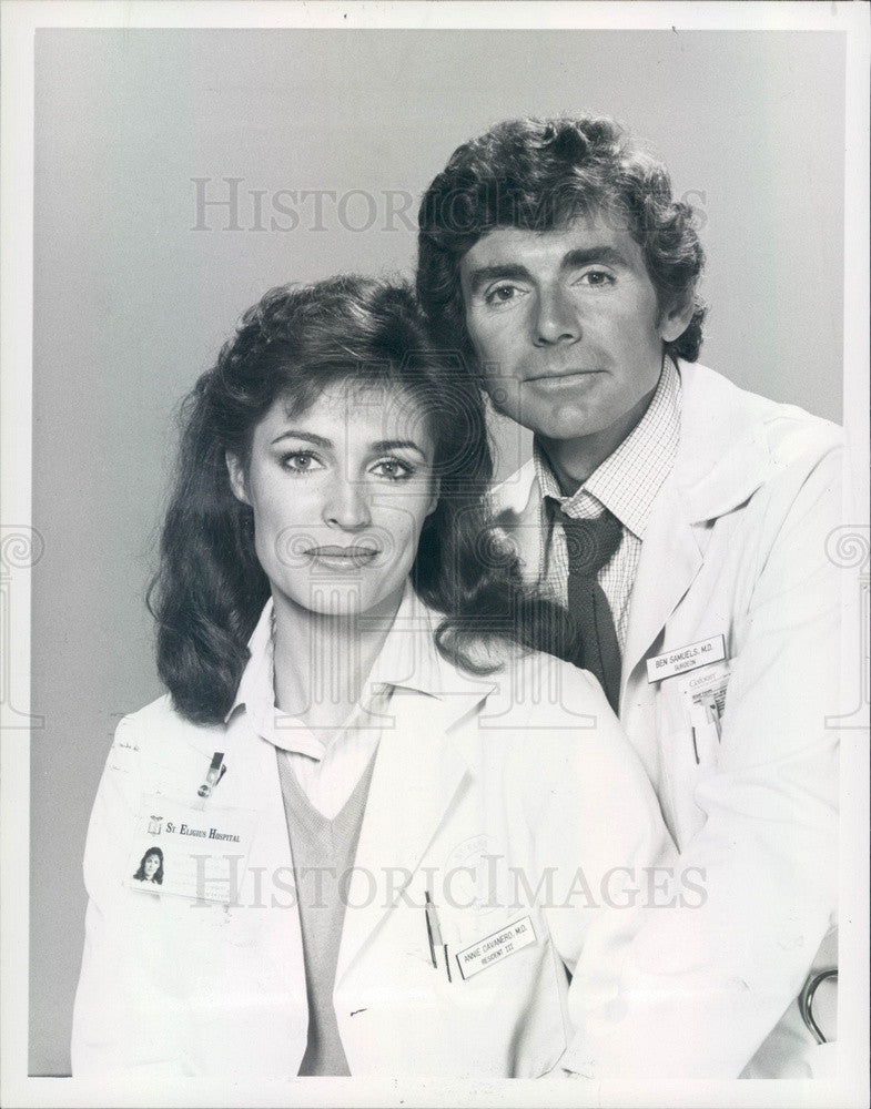 1982 Hollywood Actor David Birney/Cynthia Sikes TV Show St Elsewhere Press Photo - Historic Images