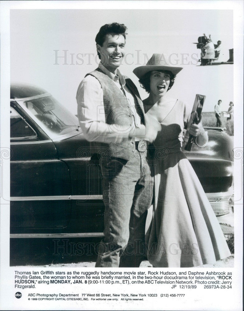 1990 Actors Thomas Griffith & Daphne Ashbrook The Rock Hudson Story Press Photo - Historic Images