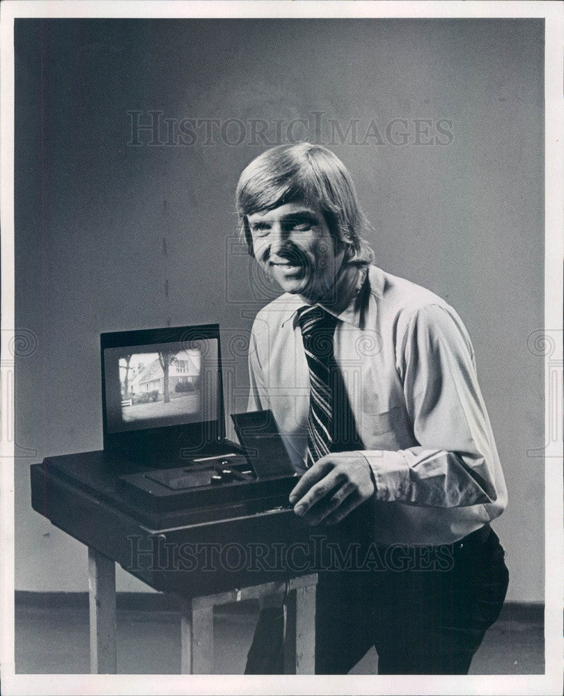 1973 Denver, Colorado Reel Enterprises President James Brunkella Press Photo - Historic Images