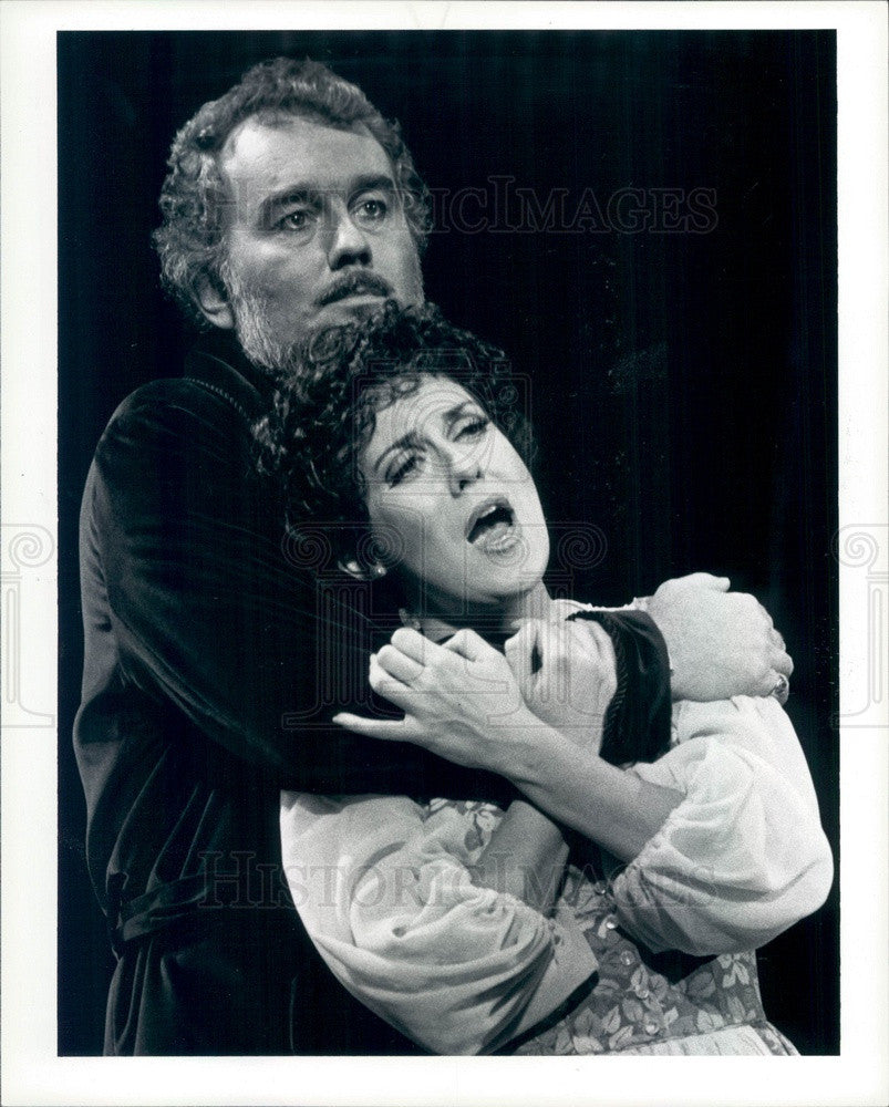 1983 Michigan Opera Theatre Phil Marcus Esser & Judy Kaye Press Photo - Historic Images