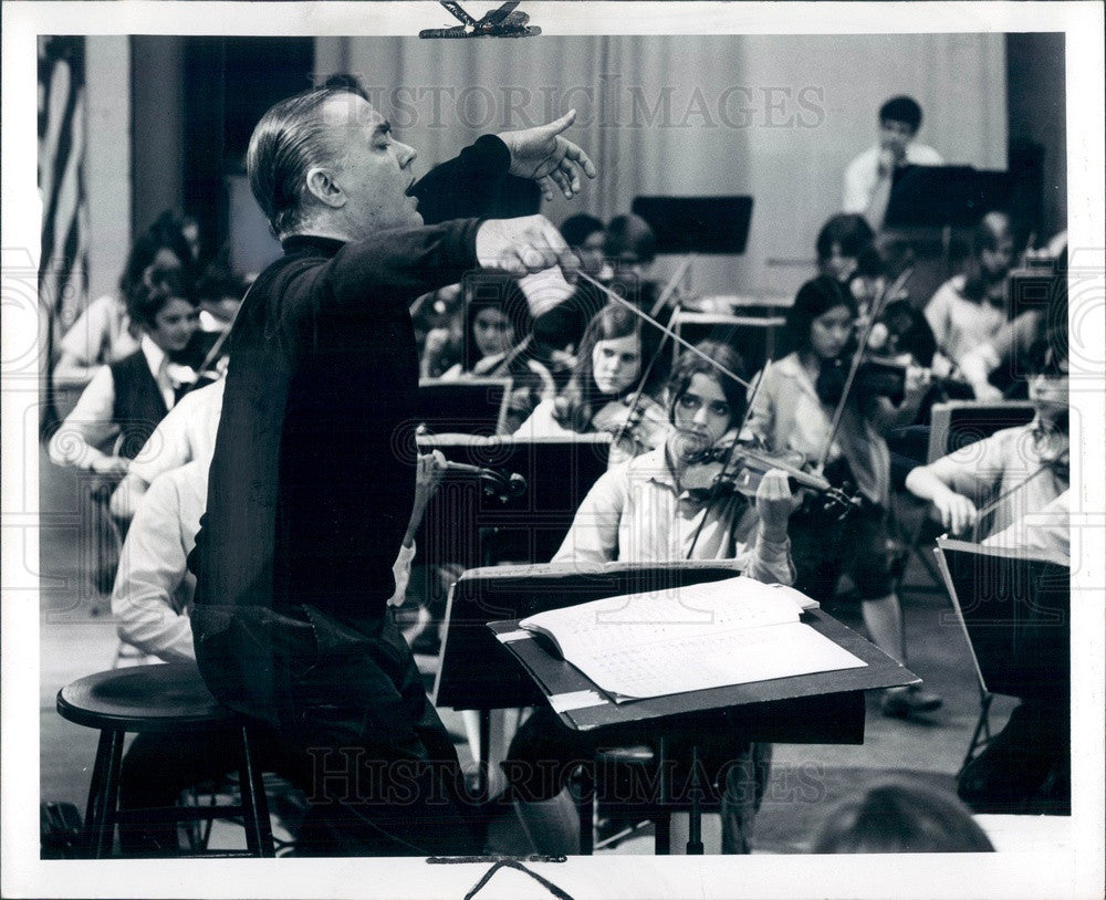 1969 Detroit, Michigan Symphony Orchestra Conductor Sixten Ehrling Press Photo - Historic Images