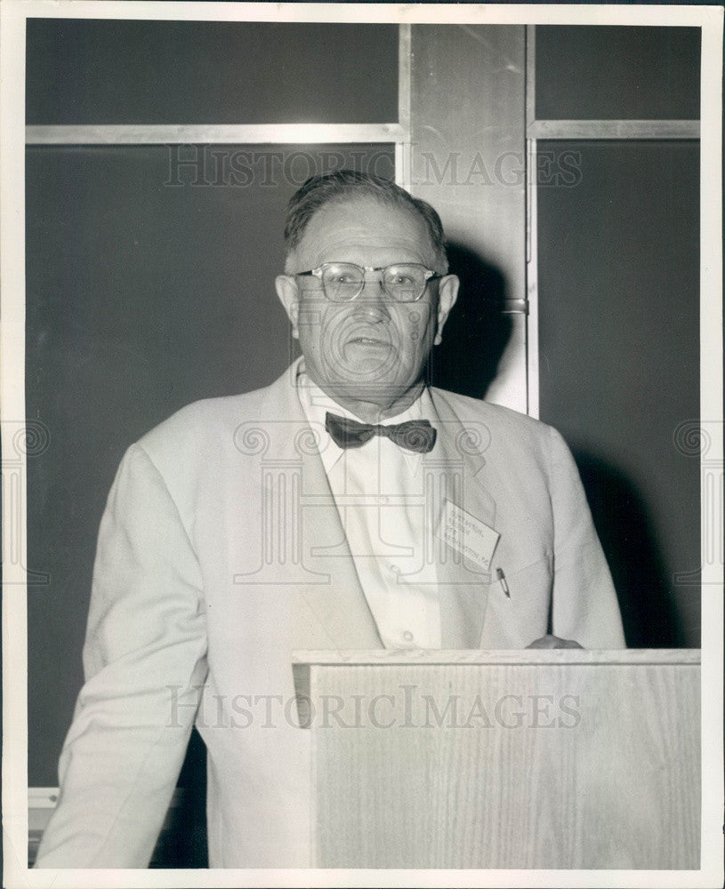 1959 Boulder CO Reuben Gustavson, Resources for the Future President Press Photo - Historic Images