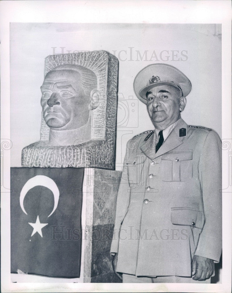 1960 Turkish President General Cemal Gursel Press Photo - Historic Images