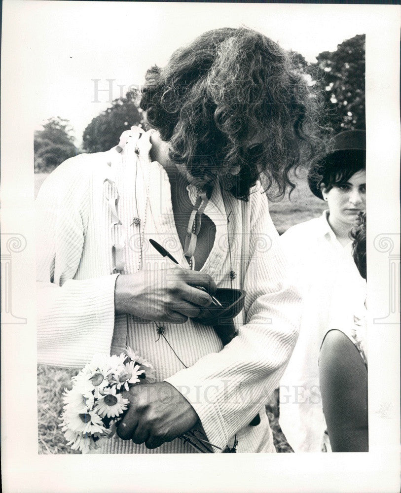 1969 American Folk Singer Arlo Guthrie Press Photo - Historic Images