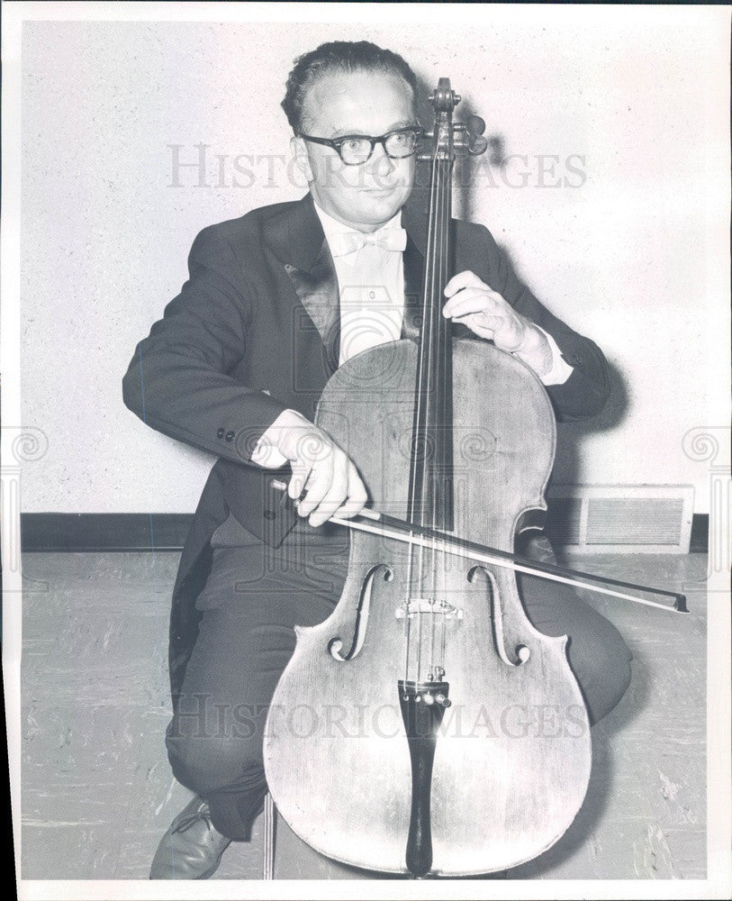 Undated Denver, Colorado Symphony Cellist & Conductor Fred Hoeppner Press Photo - Historic Images