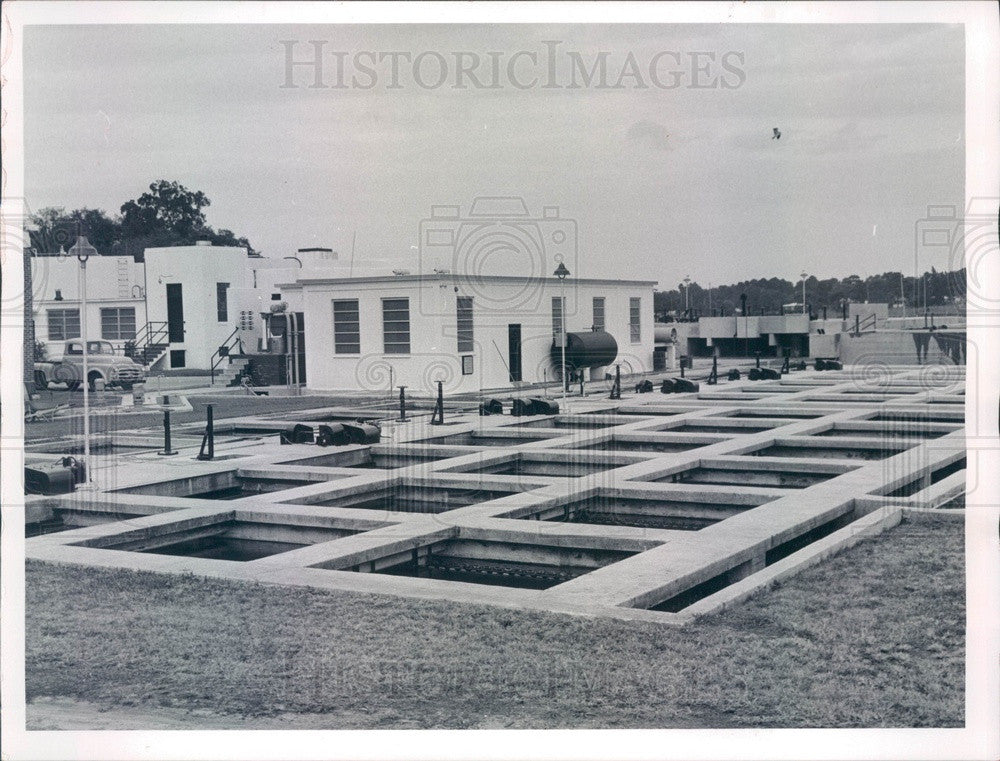 1959 Clearwater Beach, Florida Sewage Treatment Plant Press Photo - Historic Images