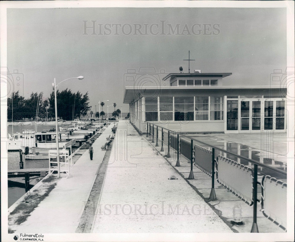 Undated Clearwater, Florida Marina Press Photo - Historic Images