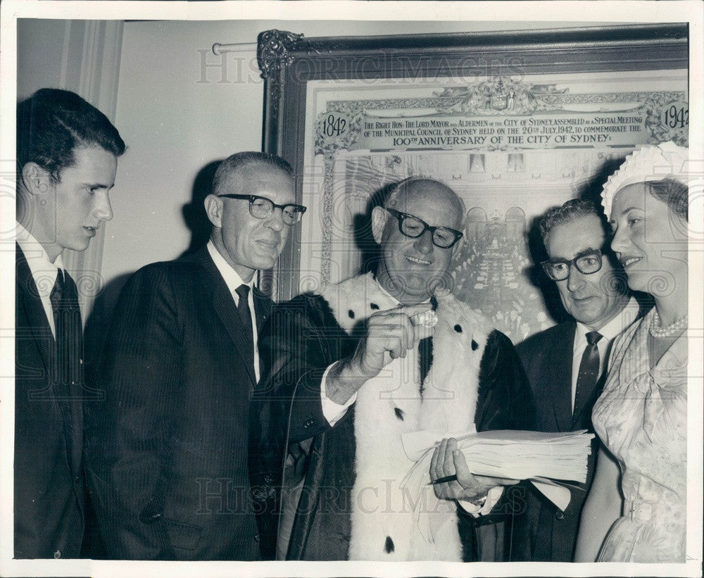1966 Sydney, Australia Lord Mayor John Armstrong Press Photo - Historic Images