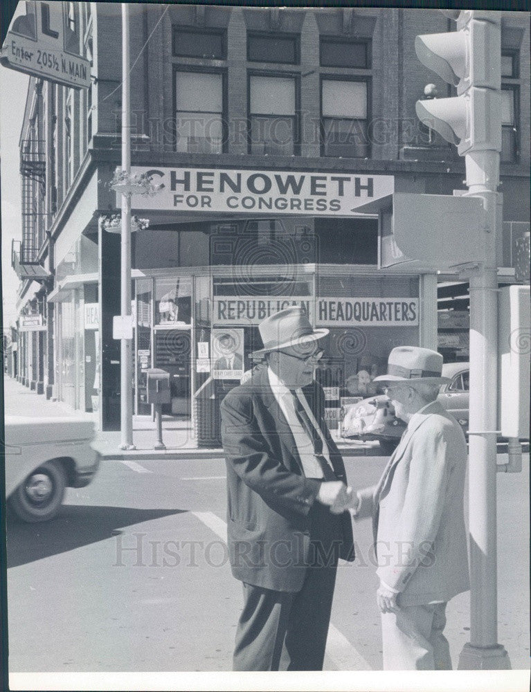 1960 Colorado Congressman J. Edgar Chenoweth Press Photo - Historic Images
