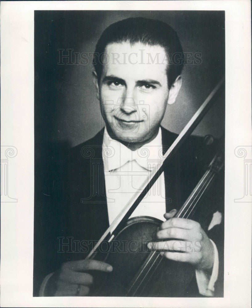 1955 Violinist Francis Akos Press Photo - Historic Images