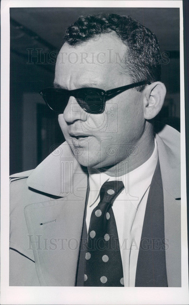 1957 Israeli Commander General Chaim Laskou Press Photo - Historic Images