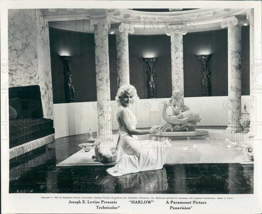 1965 Hollywood Actress Carroll Baker in Harlow Press Photo - Historic Images