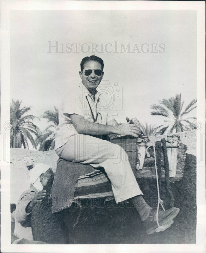1956 Travel Book Author Richard Joseph in Egypt Press Photo - Historic Images