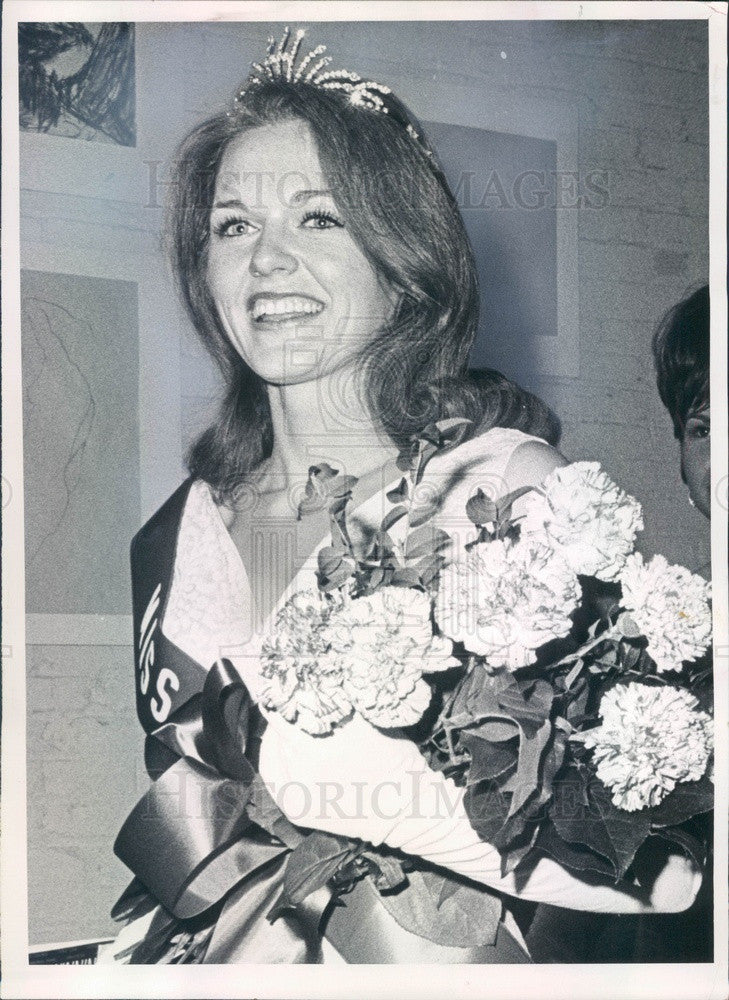 1967 Denver, Colorado Miss Metropolitan State College Judi Jones Press Photo - Historic Images