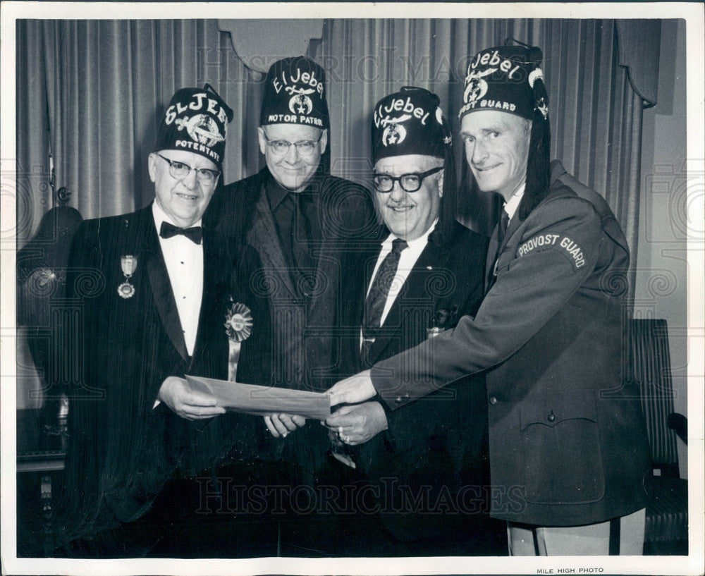 1967 Colorado El Jebel Shriners, Potentate Montie Blunn Press Photo - Historic Images
