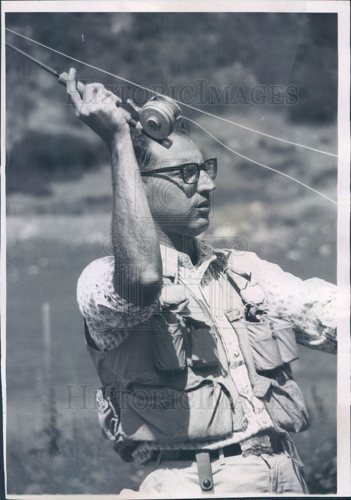 1963 Denver, Colorado Dave Cook Sporting Goods President Herb Cook Press Photo - Historic Images
