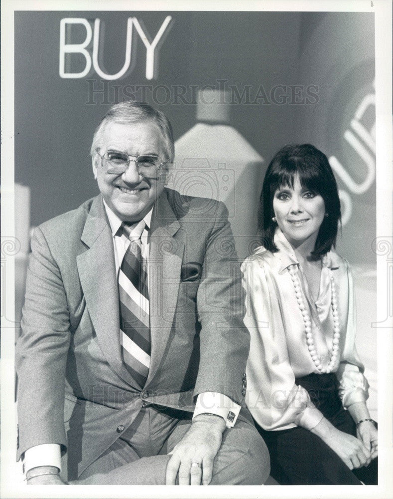 1984 TV Host Ed McMahon & Actress Joyce DeWitt Press Photo - Historic Images