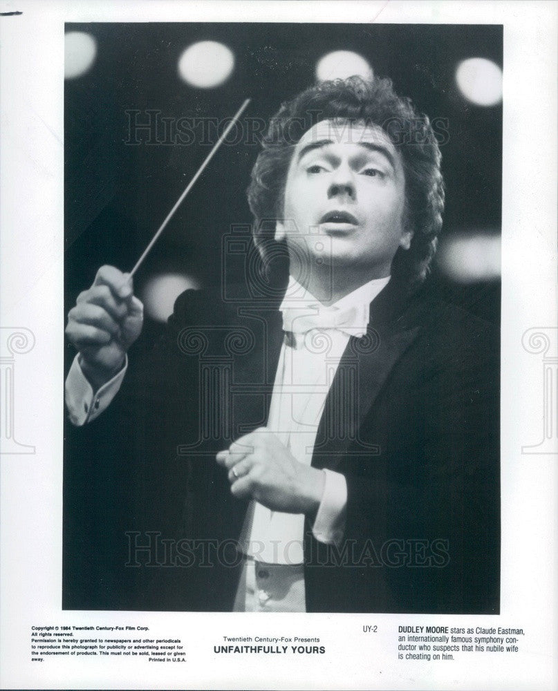 1984 English Hollywood Actor Dudley Moore in Unfaithfully Yours Press Photo - Historic Images