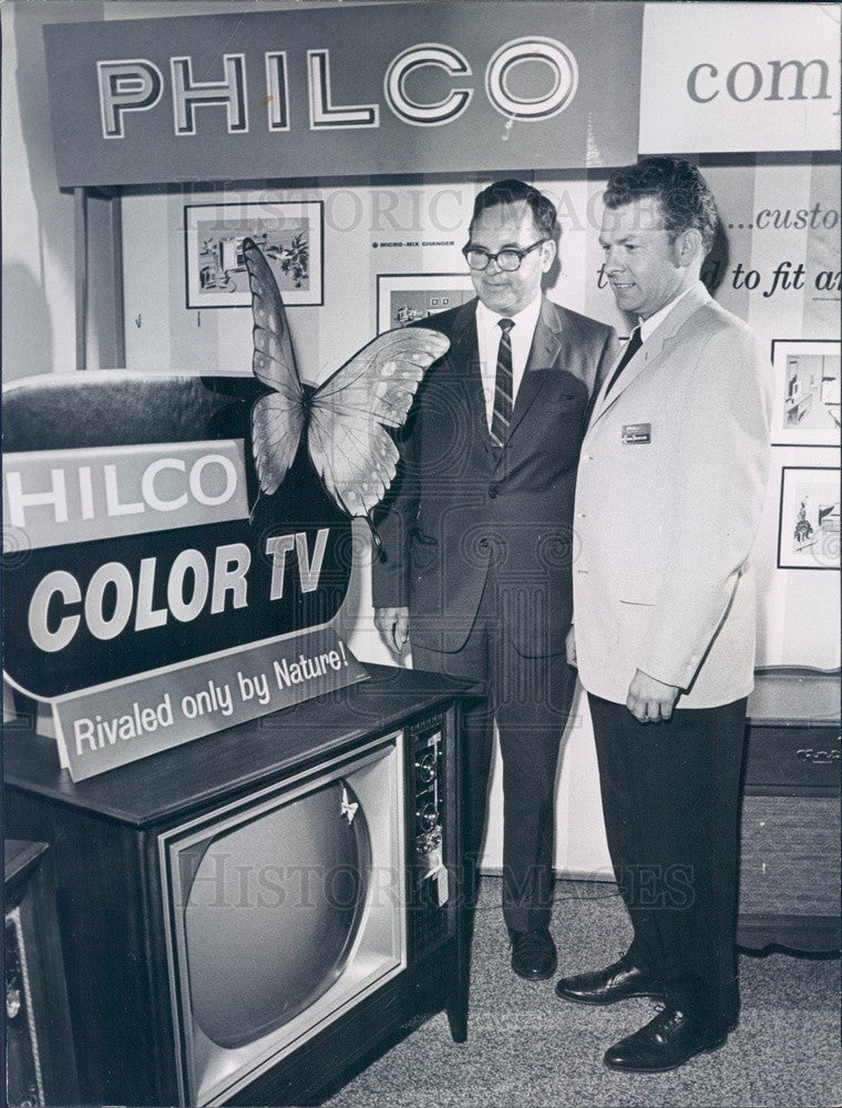 1964 Denver, Colorado Philco GM Francis McGrath & Robert Myers Press Photo - Historic Images