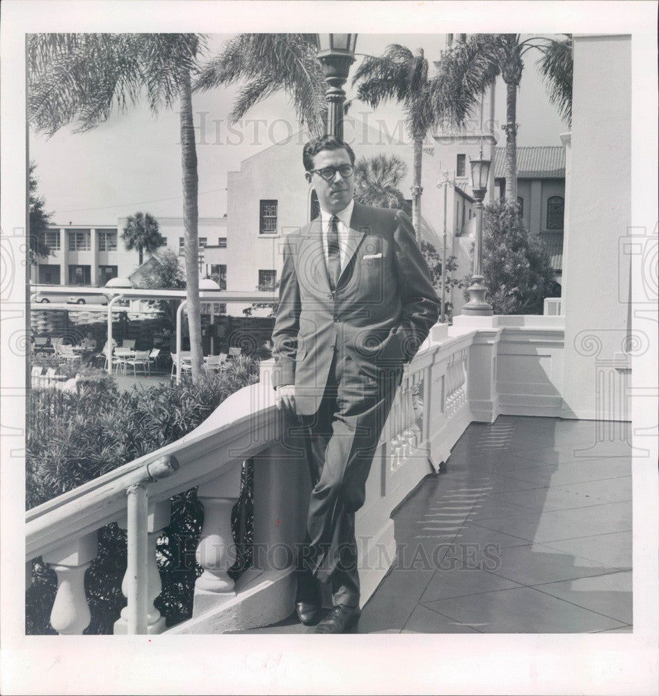 1963 Clearwater, FL Jack Tar Harrison Hotel Manager Ernest Blank Press Photo - Historic Images
