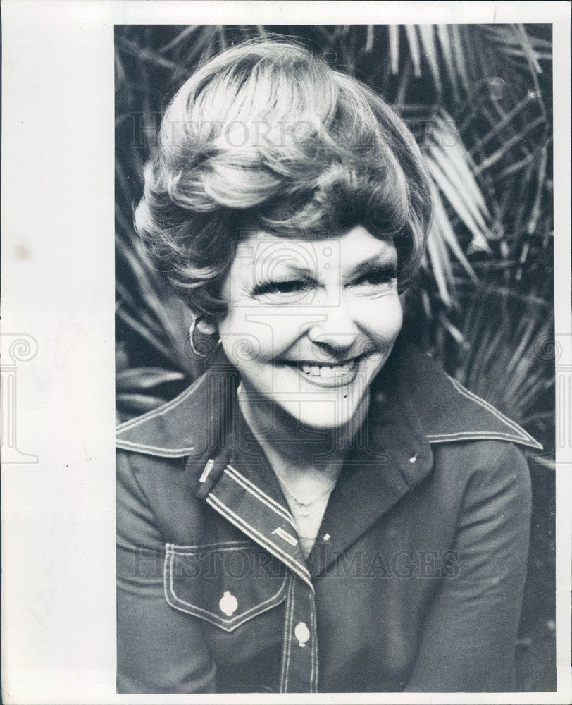 1977 Broadway & Film Actress & Singer Vivian Blaine Press Photo - Historic Images